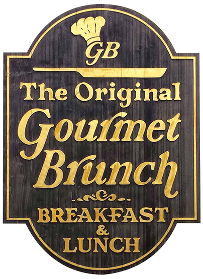 Logo for The Original Gourmet Brunch, which serves breakfast and lunch in Hyannis on Cape Cod